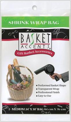 Basket Accents Shrink Wrap Bag Medium 24