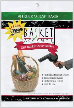 Basket Accents Shrink Wrap Bags Medium 24