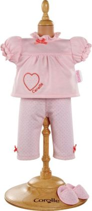 Corolle Mademoiselle Pajamas & Slipper Doll Clothes, Fits 14 Inch Dolls