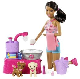 Barbie Suds Hugs Pup Playset African American