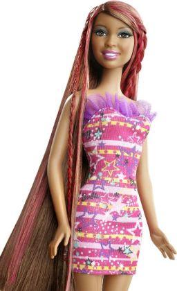 Barbie Hairtastic! Color & Design Salon African American Doll
