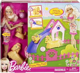 Barbie Puppy Play Park Doll and Playset