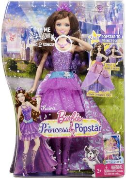 Barbie Princess & The Popstar 2-in-1 Keira Doll