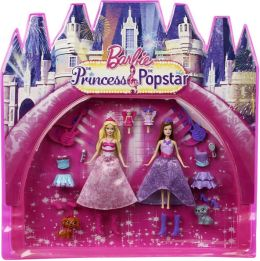 Barbie Princess And Popstar Dolls & Movie Bag