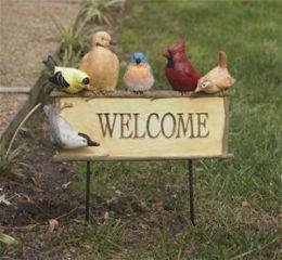 Evergreen Enterprises Inc Birds Welcome Sign