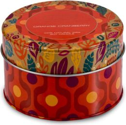 Orange Cranberry Retro Tin
