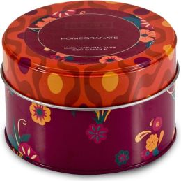 Pomegranate Retro Candle Tin