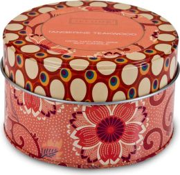 Tangerine Teakwood Retro Tin Candle