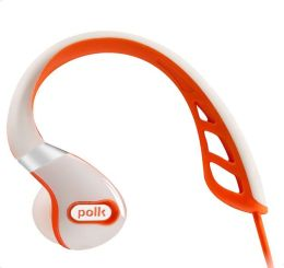 Polk Audio UltraFit 3000 White/Orange In-Ear Headphones with Inline Microphone (AM3104-A)