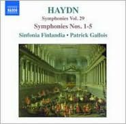 Haydn: Symphonies, Vol. 29 - Symphonies Nos. 1-5