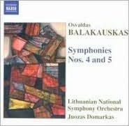 Osvaldas Balakauskas: Symphonies Nos. 4 & 5