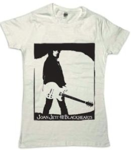 Joan Jett Guitar Tee (Wl) (Wht) (Joan Jett & The Blackhearts)