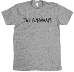The Runaways Handwritten Track Tee (Lg) (Gry) (Runaways)
