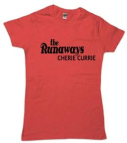 Cherie Currie Runaways Tee (Red) (Wxl) (Cherie Currie)