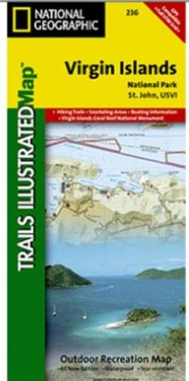 National Geographic TI00000236 Map Of Virgin Islands National Park - U.S.V.I.