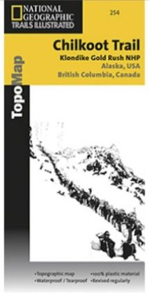 National Geographic TI00000254 Map Of Chilkoot Trail-Klondike Gold Rush - Alaska