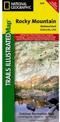 National Geographic TI00000200 Map Of Rocky Mountain National Park - Colorado