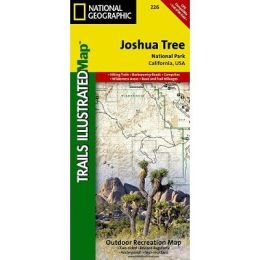 National Geographic TI00000226 Map Of Joshua Tree National Park - California