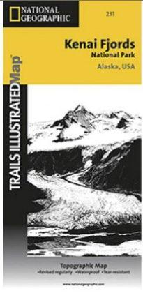 National Geographic TI00000231 Map Of Kenai Fjords National Park - Alaska
