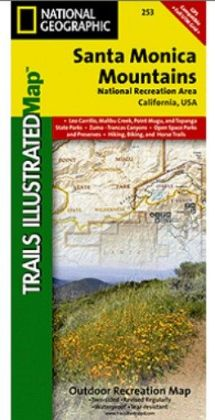 National Geographic TI00000253 Map Of Santa Monica Mountains - California