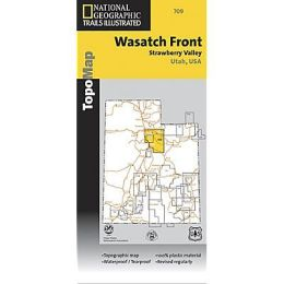 National Geographic TI00000709 Map Of Wasatch Front North Trail - Utah