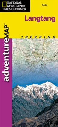 National Geographic AD00003004 Map Of Langtang