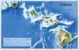 National Geographic RE00620135 Map Of Hawaii - Laminated