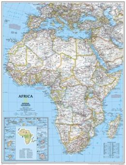 National Geographic RE00620142 Map Of Africa - Laminated