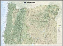 National Geographic Maps RE01020407 Oregon State Wall Map Laminated