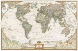 National Geographic RE00622087 World Executive - Laminated Map