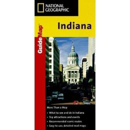 National Geographic GM00620111 Map Of Indiana
