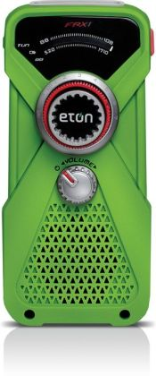 Eton NFRX1WXGR Hand-Powered AM/FM/NOAA Weather Radio with LED Flashlight - Green