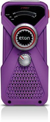 Eton NFRX1WXPU Hand-Powered AM/FM/NOAA Weather Radio with LED Flashlight - Purple
