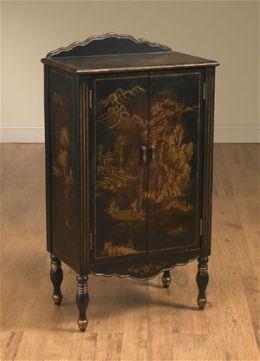 AA Importing 80180 Two Door Oriental Cabinet - Black