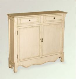AA Importing 47735 Console Cabinet - Antique White Finish