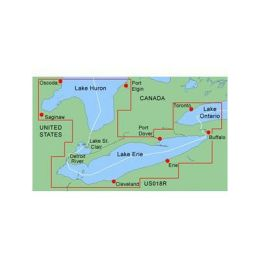 Garmin BlueChart: Lake Erie-Lake St. Clair DigitalMap - North America - United States Of America, Canada - Lake - Boating