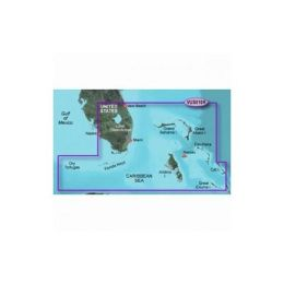 Garmin BlueChart g2 Vision Southeast Florida Digital Map - North America - United States Of America- Florida - Driving, Fishing, Boating