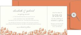 George Stanley Coral Perforated Imprintable Invitations Set of 10
