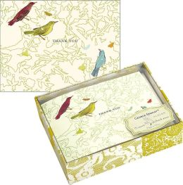 George Stanley Birds Luxe Thank You Boxed Note Card Set of 15