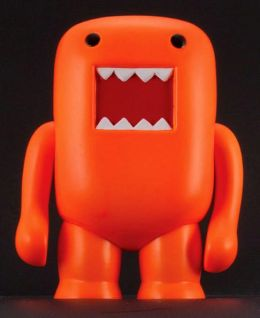 Domo 4 Inch Vinyl Figure, Black Light Orange