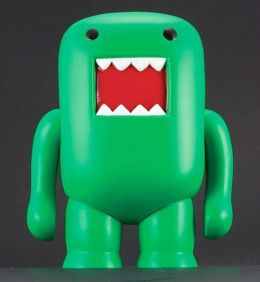 Domo 4 Inch Vinyl Figure, Black Light Green