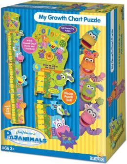 Pajanimals Growth Chart 17 Piece Puzzle