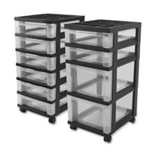 Iris IRS116827 Mini Chests- 4-Drawer- 12-.06in.x14-.25in.x26-.44in.- Black