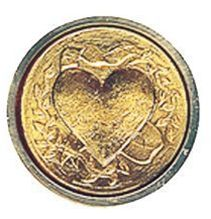 "Alvin&Co MSH725HEA 3/4"" Mini Heart Decorative Seal"