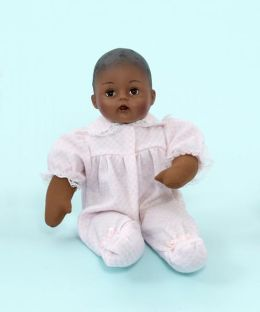 Madame Alexander Baby Alexander Pink check African American 12 inch Doll