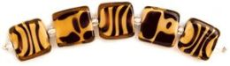 Blue Moon Art Glass Beads-14x16mm Animal Print 5/Pkg