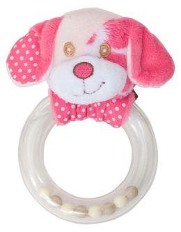 Pink Dog Rattle