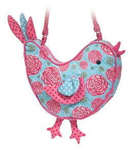 Floral Harvest Bird Sillo 9.5 inch Purse