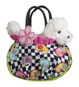 Hip Happy Tote with Bichon 7 inch Purse