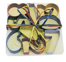 Number Cookie Cutters Set Boxed with Raffia Tie